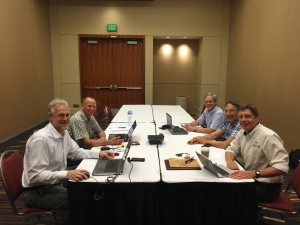 Doug Bartlett (far right) attending the Managed Aquifer Recharge Standards Committee meeting in West Palm Beach, FL on May 22, 2016.